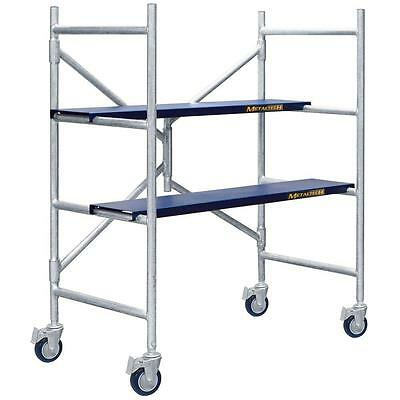 Aluminum 4 Ft.x3-12 Ft. X 1-34 Ft. Scaffolding Kit With 600 Lb. Load Capacity