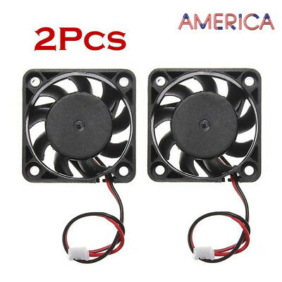 2Pcs 12V Mini Cooling Computer Fan - Small 40mm x 10mm DC Brushless 2/3-pin USA