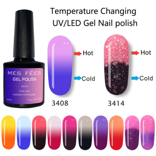 uv gel polish thermal heat color change