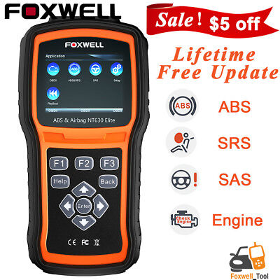 Car ABS Airbag SRS SAS Reset OBD2 Code Reader Engine Check Diagnostic Scanner