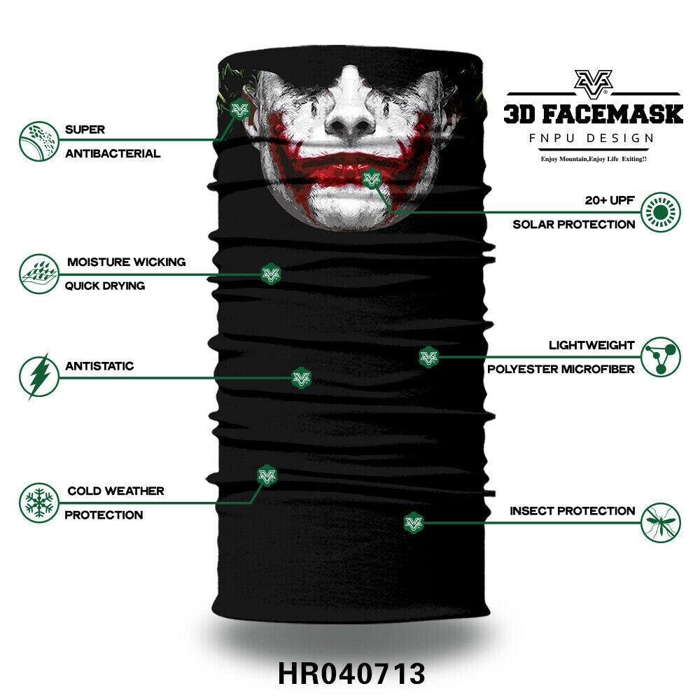 Skull Face Mask Balaclava Scarf Neck Fishing Shield Sun Gaiter UV Headwear US Clothing, Shoes & Accessories