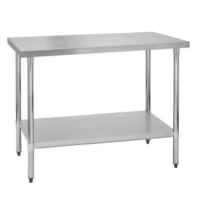 Stainless Steel Commercial Work Prep Table - No Backsplash - 24 X 24 G