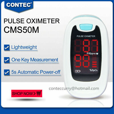 Led Medical Finger Blood Oxygen Saturometro Heartoximeter Spo2prcms50m Usa