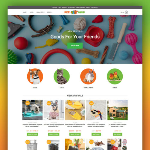 PET SHOP - Dropshipping Website Business - Fully Ready-To-Go