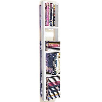 IRIS - Da Parete CD / DVD / Blu ray Scaffale Per Magazzinaggio - Bianco CHW1040