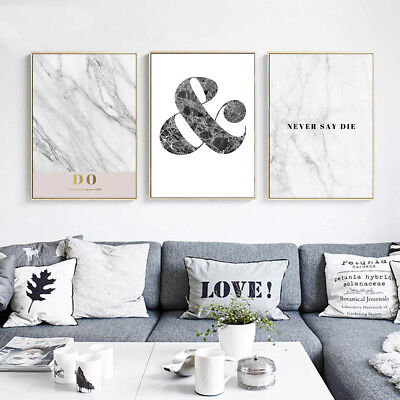 Nordic Style Motivational Quote Canvas Art Poster Print Modern Home Decoration