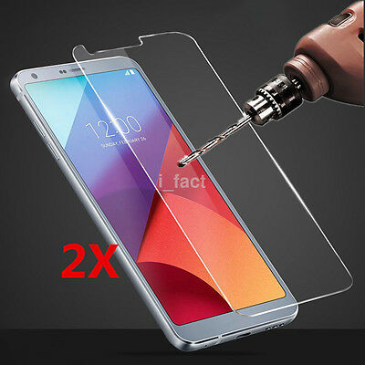2Pcs New 9H+ Premium Tempered Glass Screen Protector Film for LG G6/G6 Plus US
