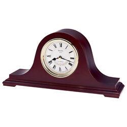 Bulova Clocks Annette II Wooden Westminster Chiming Mantel Clock, Walnut (Used)