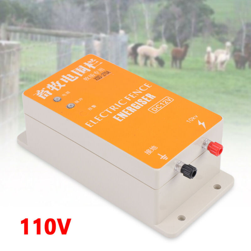 Solar Electric Fence Energizer Controller Ranch Animal Orchards Fencing Charger