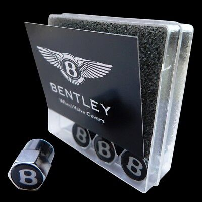 BRAND NEW BENTLEY GENUINE BLACK WHEEL TIRE VALVE CAP KIT  OEM # 3W0601367