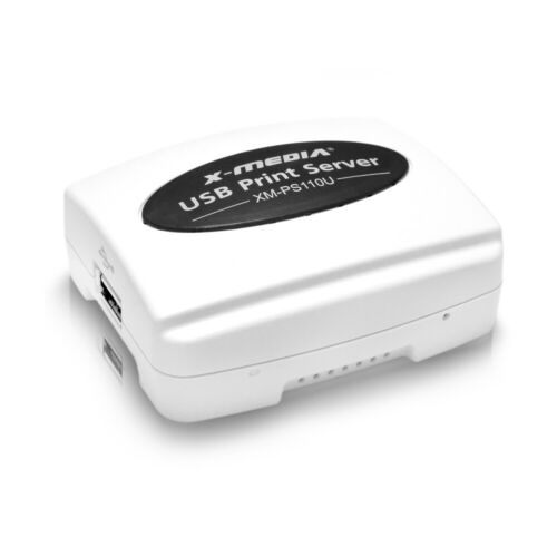 X-MEDIA XM-PS110U 1-Port 10/100Mbps Fast Ethernet USB 2.0 Network Print Server