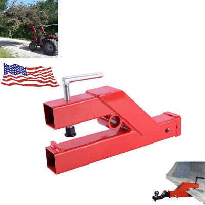 Ball Mount Bucket Skid Steer Tractor Clamp On Trailer Hitch 2 For Deere Bobcat