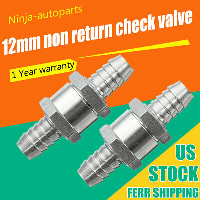 "3x Non Return 6mm 1//4/"" Fuel Line Oil Petrol Air Diesel Water One Way Check Valve"