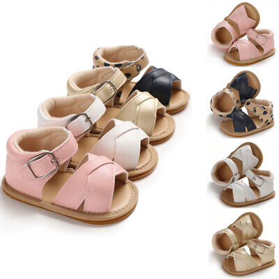 US Infant Kid Baby Girl Flower Sandals Fashion Casual Crib Shoes First Prewalker