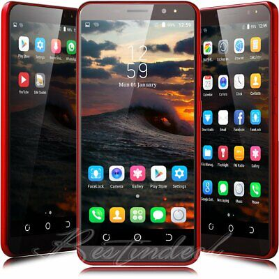 New 6 inch Android 8.1 Quad Core Dual SIM Unlocked Smart Mobile WIFI Cell Phone