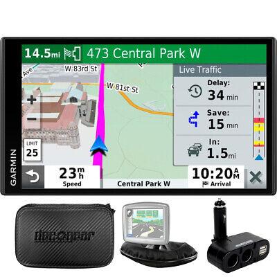 Garmin Drivesmart 65T GPS Navigator + Case, Car Socket Universal Bundle