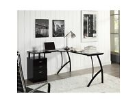 Computer Corner Desk with 3 Drawers by Home & Haus