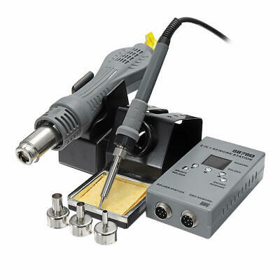 Yaogong 8878d 2 In 1 Smd Rework Soldering Station Hot Air Gun Welding Solder Iro