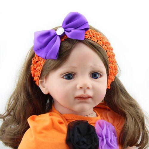 "24"" Toddler Reborn Baby Dolls Girl Newborn Vinyl Silicone Babies Xmas Gift Doll"