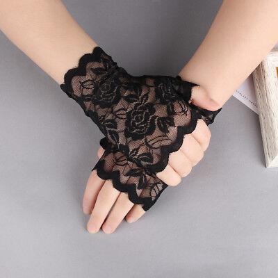 Style Party Beauty Black Lady Lace Gloves Mittens Fingerless Fancy Dress Prom](Black Gloves Fancy Dress)