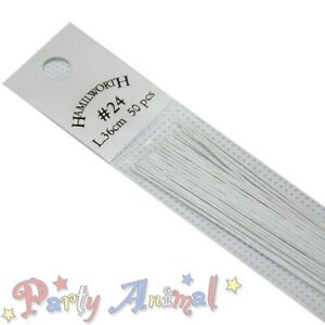 Hamilworth Sugarcraft Floristry Wires WHITE Floral Cake Craft Flower Design