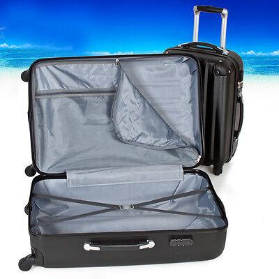 3tlg Reisekoffer Set Trolley Hartschale Hartschalenkoffer Reisekofferset schwarz