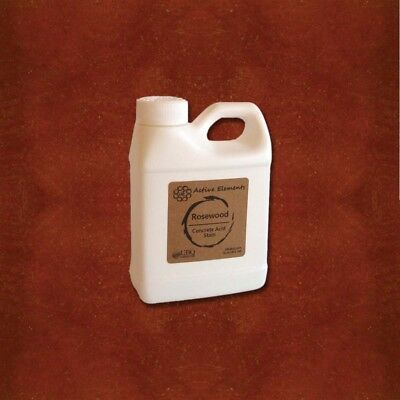 Official Concrete Acid Stain - 16oz - Rosewood - Dark Red To Brown