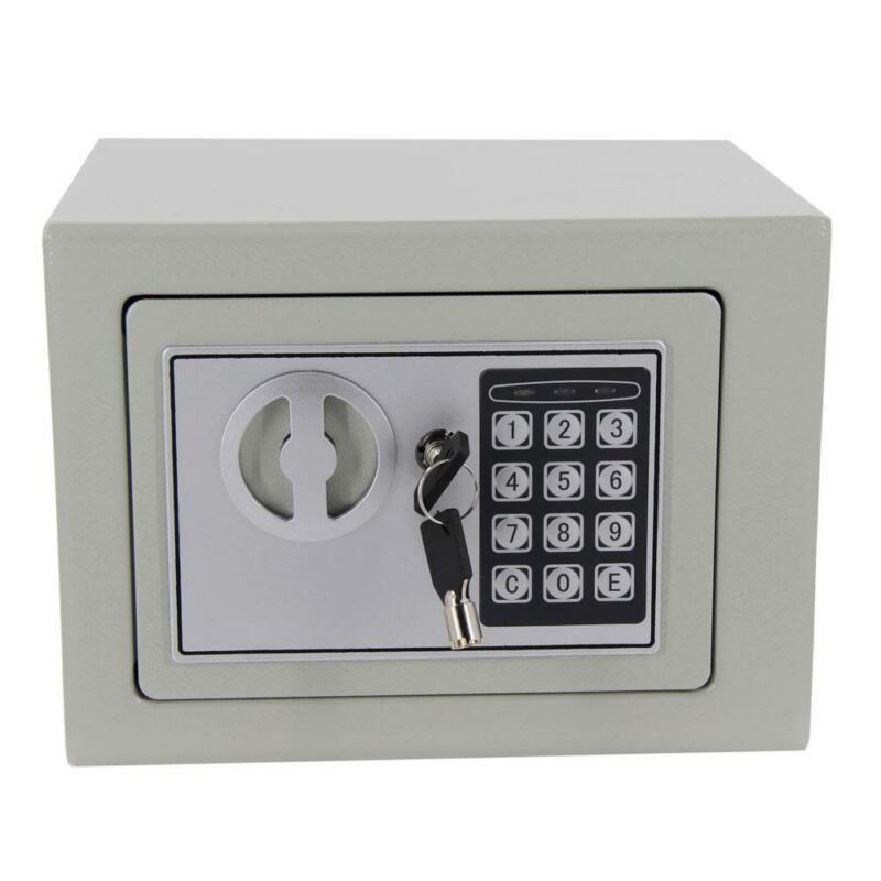 "9"" Digital Electric Home Office Security Keypad Lock Cash Gun Jewelry Safe Box"