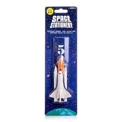 SUCK UK Fun Space Set Children's Pencil Eraser Space Shuttle Stationery](Children's Stationery)