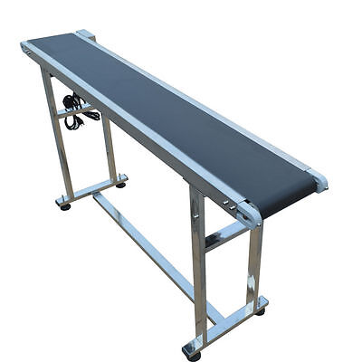 "New Arrival Top-grade 59"" x 7.8""  110V Conveyor Belt With Black PVC Belt New"
