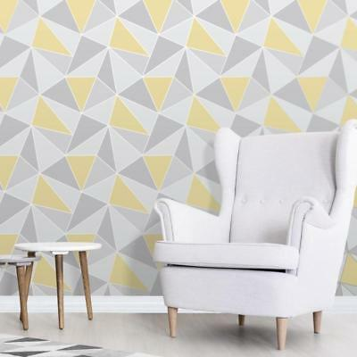 Grey and Yellow Wallpaper Geometric Pattern Apex by Fine Decor FD41991](Grey And Yellow Decor)