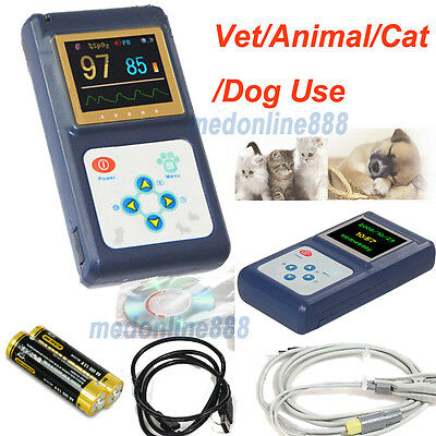 Us Seller Veterinary Pulse Oximeter Oxygen Spo2 Pr Monitor Vet Tongue Probe Sw