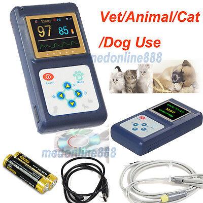 Us Seller Veterinary Pulse Oximeter Oxygen Spo2 Pr Monitor Vet Tongue Probe Sw