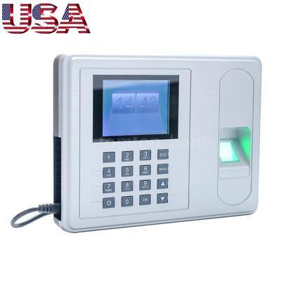 2.4 Tft Lcd Employee Fingerprint Recorder Attendance Clock Time Machine Dc 5v