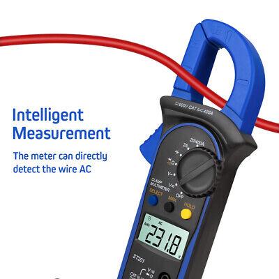 St-201 Digital Clamp Meter Auto Range Clamp Tester Meter Multimeter Ac Dc Volt