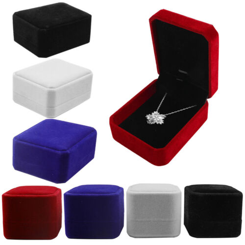 1/5/10 Pk Velvet Earring Ring Necklace Jewelry Gift Boxes Ca