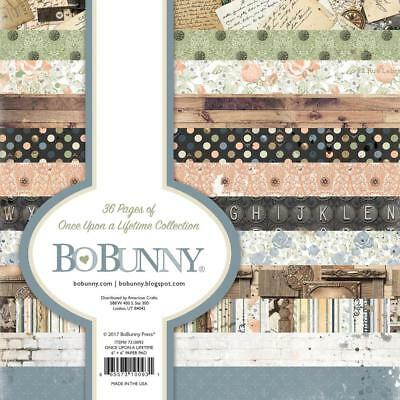 Scrapbooking Crafts 6X6 Paper Pad BOnce UpBon a Time Bird Houses Letters Bricks