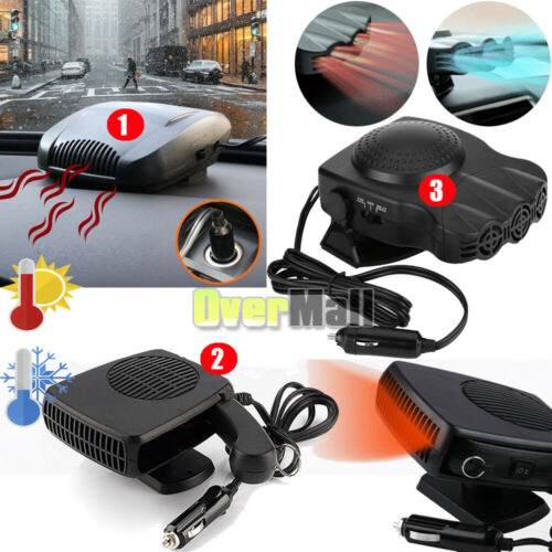 150W-200W Portable Car Ceramic Heating Cooling Heater Fan De