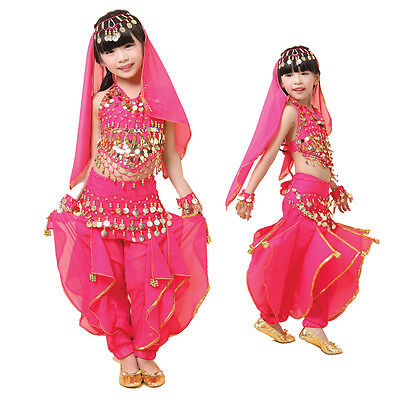 KID's Beautiful Belly Dance Indian Dance Dress Costumes Suit for Girl 3 Colors](Belly Dance Costumes For Girl)