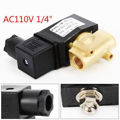 14 Electric Solenoid Valve Pneumatic Water Oil Air Gas 110120 Volt Ac Npt Nc