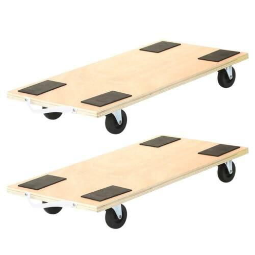 "2 Pack 23""x12"" Dolly Moving Cart Platform 450LB Rectangle Wood Mover Platforms"