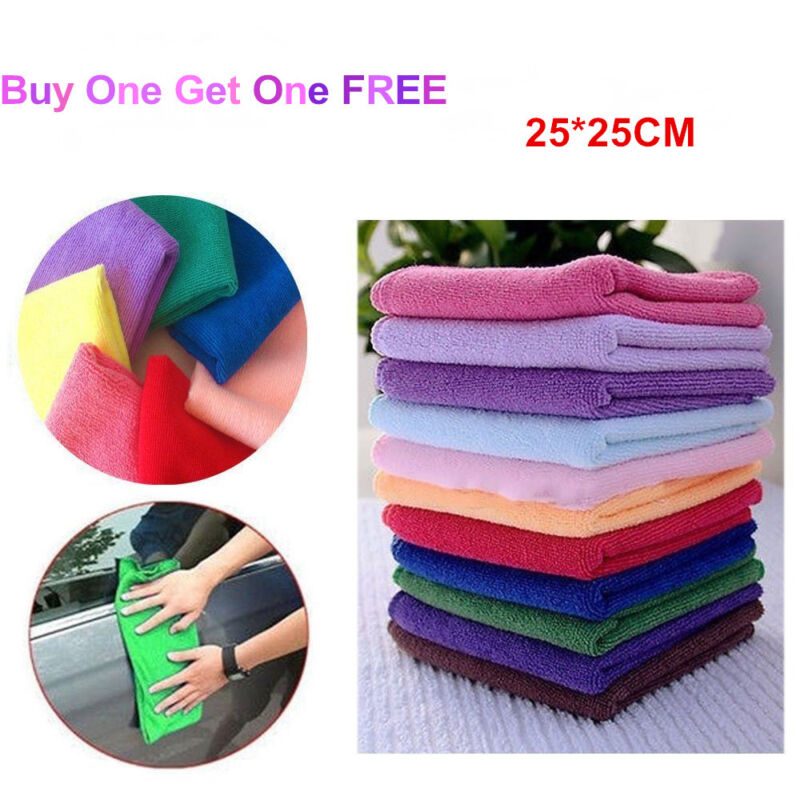 Microfiber Cleaning Hand Car Wash Towels Soft Rags Kitchen Cloth Small Dishcloth