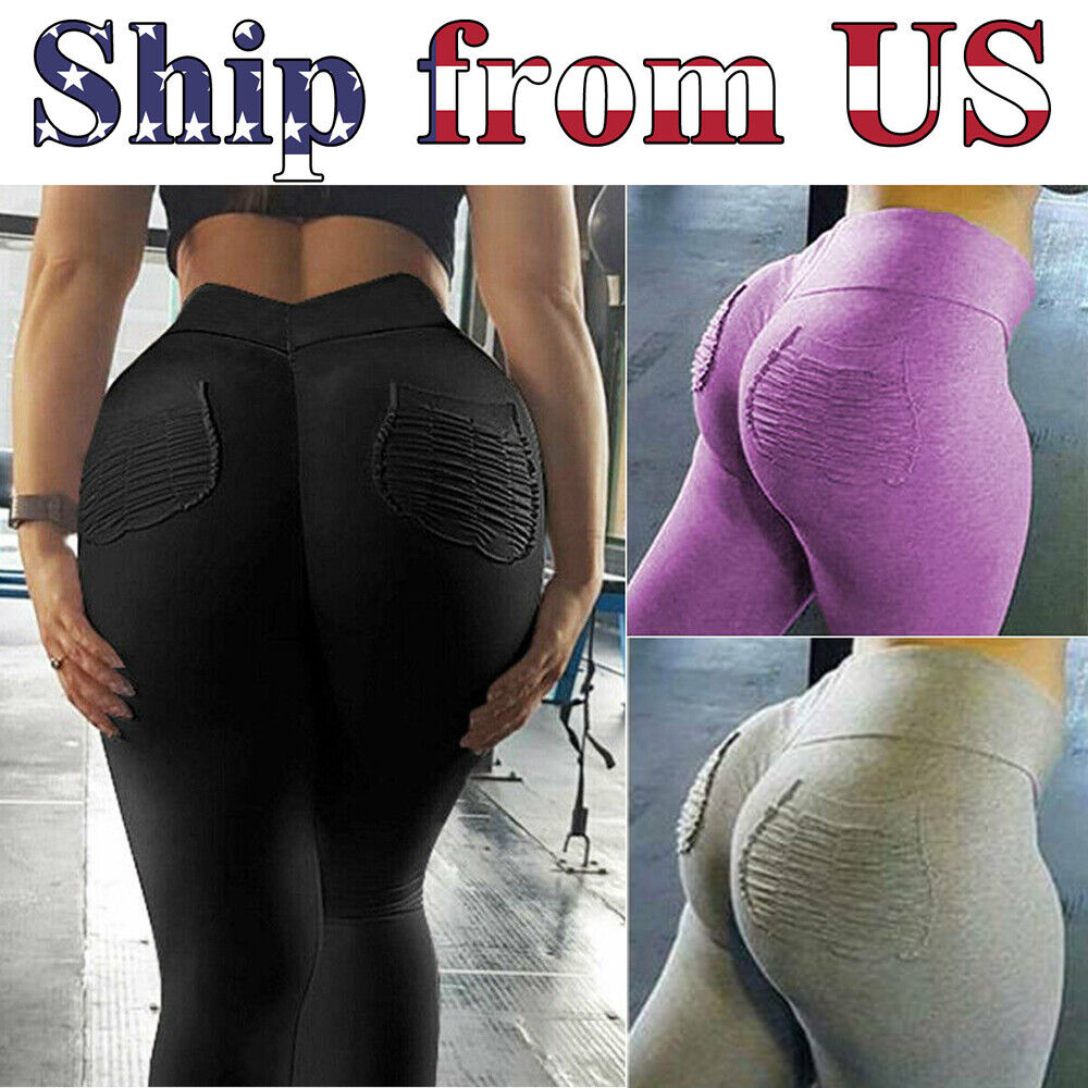 Women Push Up Fitness Leggings Pockets Sport Yoga Gym Pants Workout Trousers Clothing & Accessories