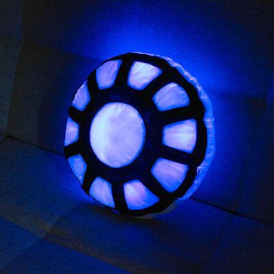 Iron Man Pillow LED Light Blue Light Soft Plush Cushion Cartoon Toy 1 Pattern