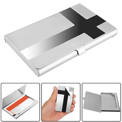1x Mens Cross Pocket Stainless Metal Business Card Holder Case Id Credit Wallet