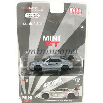 MINI GT LIBERTY WALK LB WORKS NISMO NISSAN SKYLINE GT-R R35 1/64 MATTE GREY for sale  Shipping to India