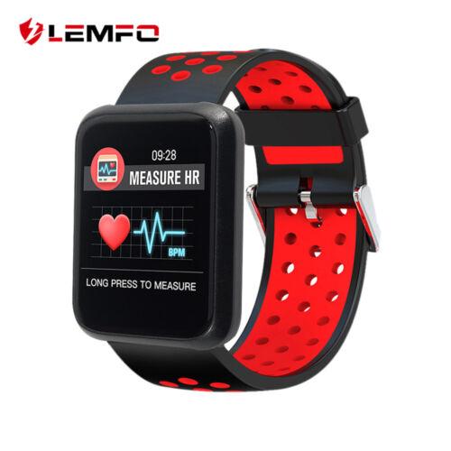 LEMFO Smartwatch Bluetooth Wasserdicht Pulsuhr Armband Blutdruck Für Android iOS