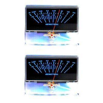 2pcs P-97 Vu Panel Meter Db Level Audio Power Amplifier Peak W Backlight