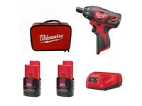 Milwaukee 2401-22 M12v 20 Nm 1/4 Sub Compact Driver Set 2 x 1.5Ah Batt 110v Charger