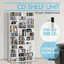 DVD, CD Storage Shelf Rack Stand Cupboard Book Unit White New Melbourne CBD Melbourne City Preview
